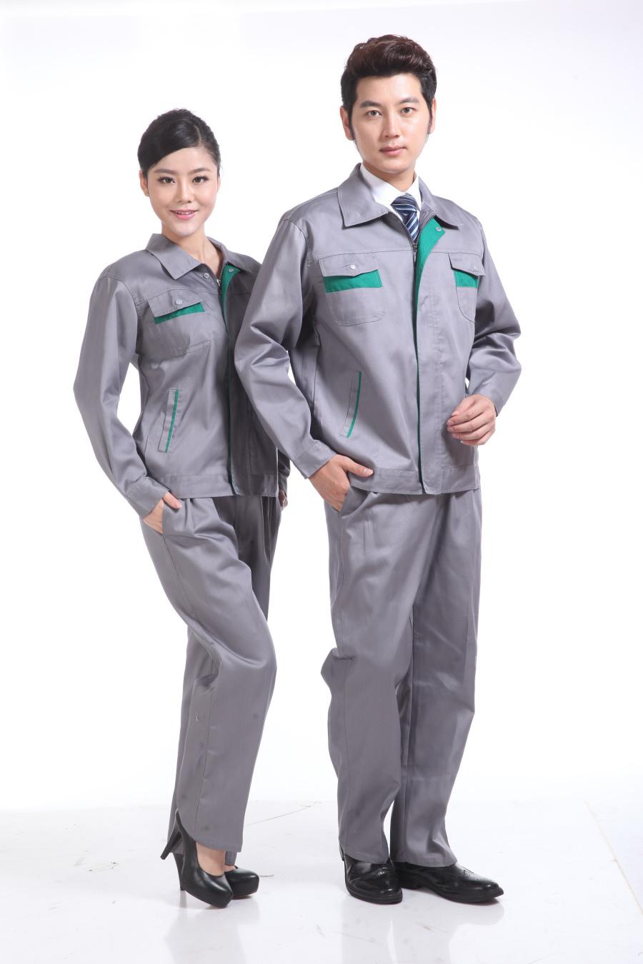 灰色春装工作服