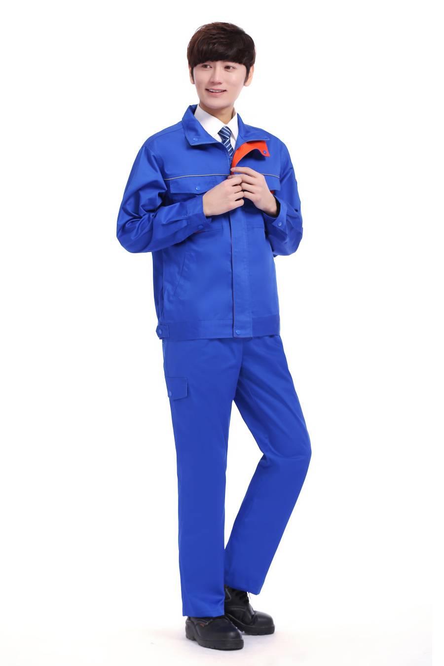 蓝色春装工作服