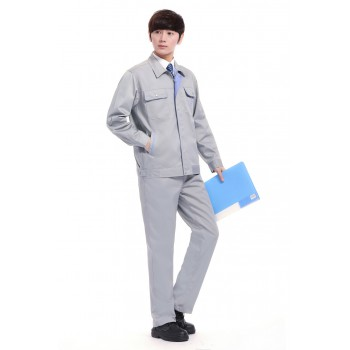 浅灰色春装工作服