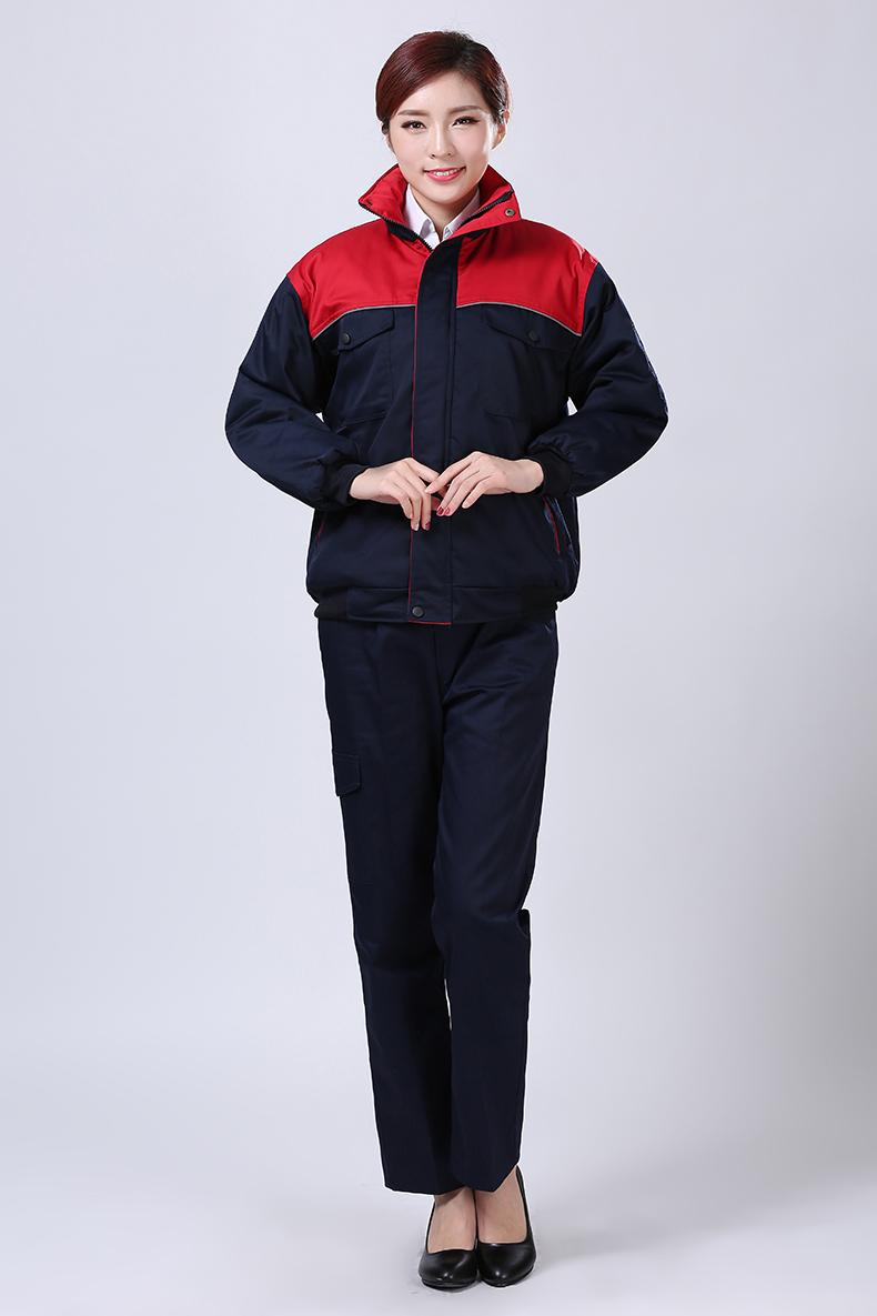红色冬装工作服