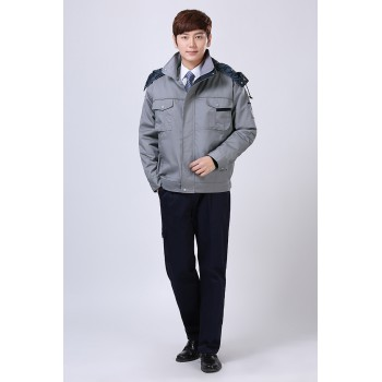 灰色冬裝工作服