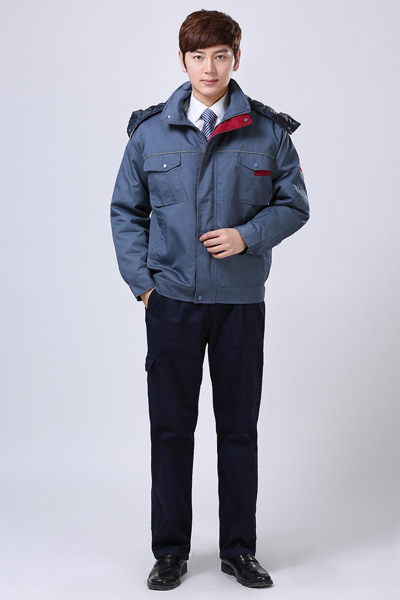 蓝色冬装工作服
