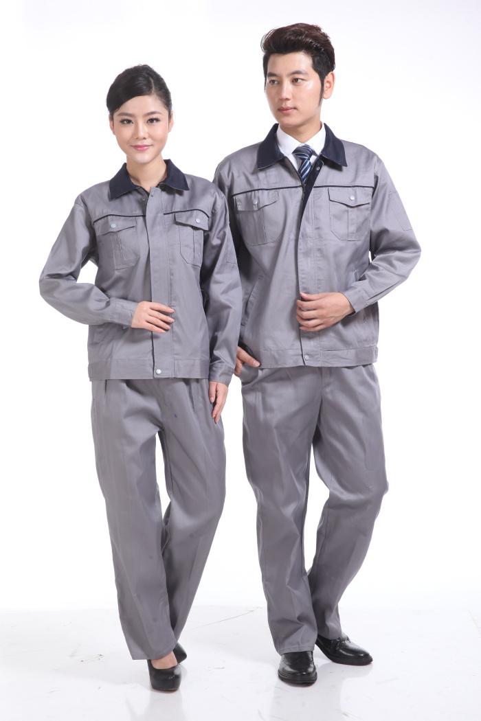 灰色秋装工作服