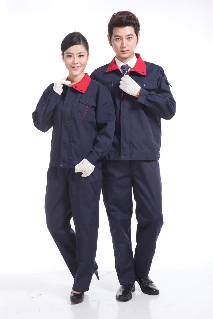 藍黑色秋裝工作服