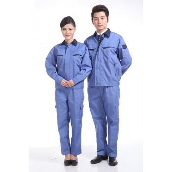 浅蓝色秋装工作服