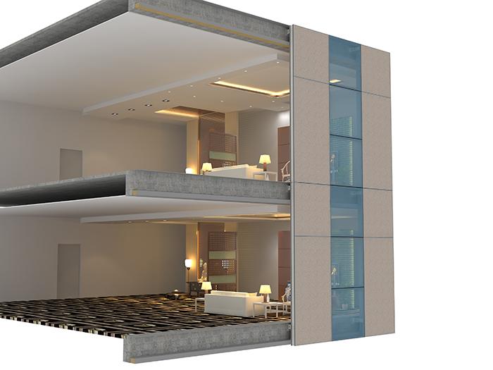 装配式保温装饰墙体系统