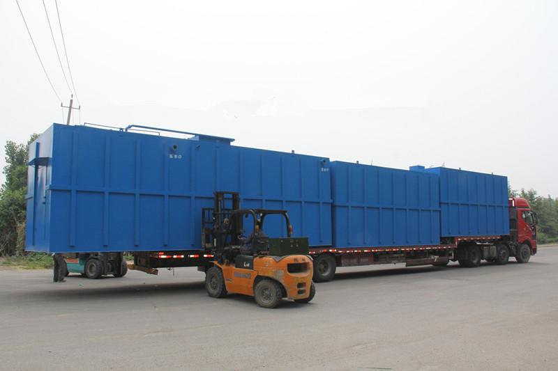 碳钢一体化污水处理设备运输