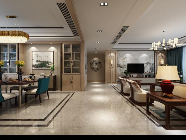 明珠山庄现代装修烟台城市人家装饰客厅4