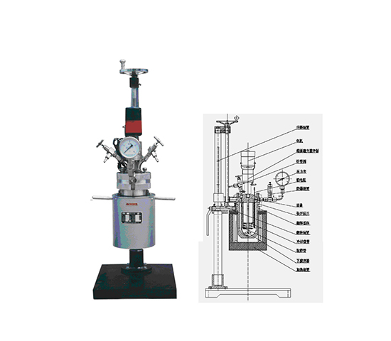 1L小试快开式加氢反应釜