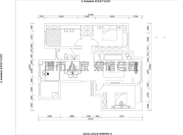 保利香榭里公館新中式風格裝修效果圖4