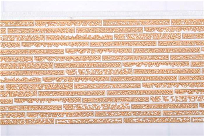 長條石紋金屬雕花板