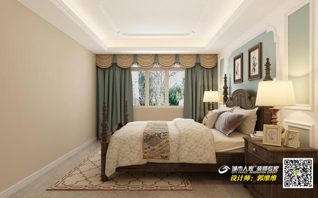 中海铂悦府140平简美风格装修效果图5卧室
