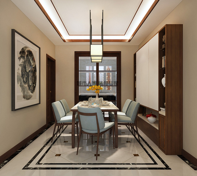 4益文佳苑二中家属楼交房新中式设计装修